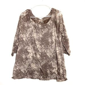 J. Jill Patterned Detailed Neckline  Shirt
